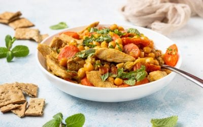Curry de poulet et pois chiches
